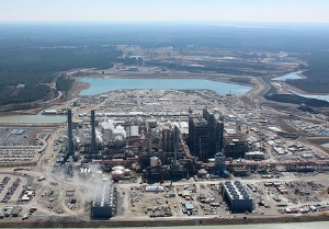 Aerial view of the Kemper Project power plant