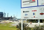 Photo by Mississippi Power - YOU'RE HERE: A sign welcomes truckers to the Kemper Project power plant located north of Meridian in east Mississippi.