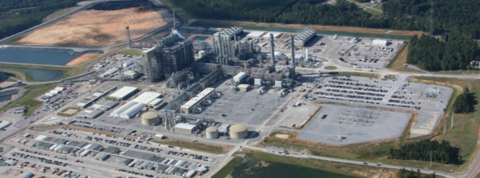 Photo by Mississippi Power OVERHEAD: An aerial view of Mississippi Power's Kemper Project clean coal power plant.