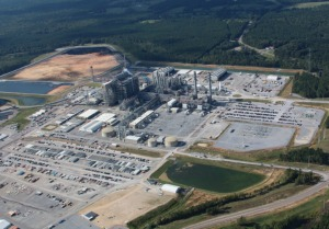 An aerial view of Mississippi Power's Kemper Project clean coal power plant.