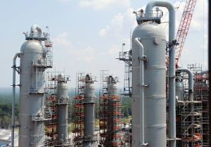 Photo by Mississippi Power CAPTURED: A view of Kemper's carbon dioxide absorbers.