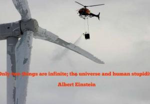 De-icing a Wind Turbine
