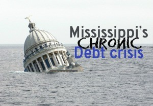 UNDER WATER: Mississippi has a stagnant economy that grew at just 1 percent in 2015, coupled with a bond debt that has increased 43 percent in a decade.