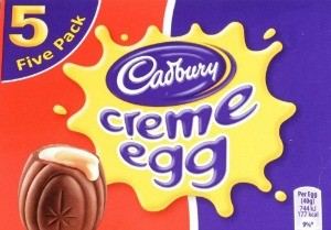 New Creme Eggs. A box of five Cadbury's Creme Eggs, London. Anthony Devlin/PA Wire URN:21932678
