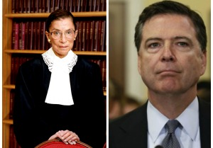 Ruth Bader Ginsberg and James Comey