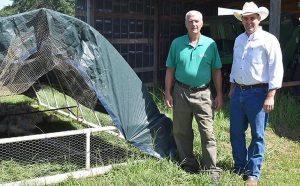 Ag Commissioner Andy Gipson and Ben Simmons of Nature's Gourmet Farm